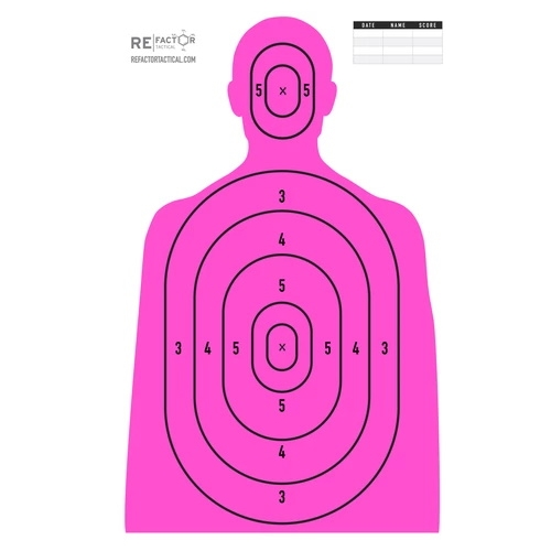 "ReFactor Tactical 25x35"" Paper Lady Killer Target 50 Pack"