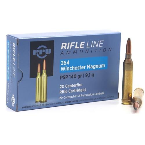 Prvi Partizan 264 Winchester Magnum Ammo 140 Grain Pointed Soft Point