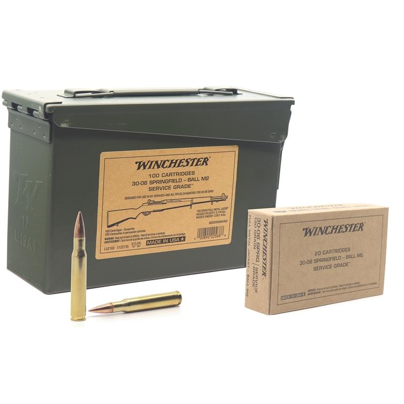 Winchester Service Grade 30-06 Springfield Ball M2 Full Metal Jacket