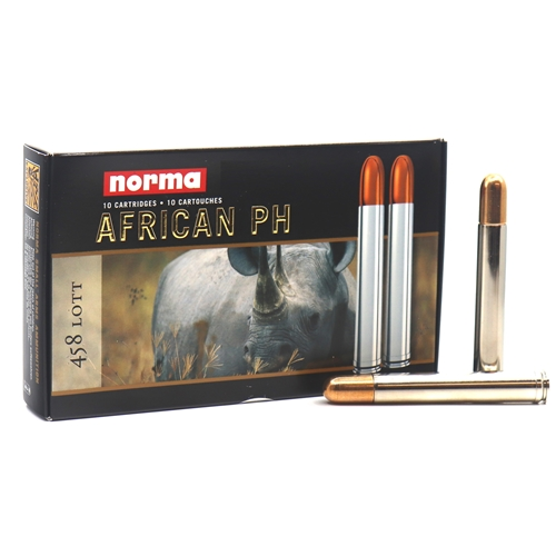 Norma African 458 Lott Ammo 550 Grain Woodleigh Full Metal Jacket