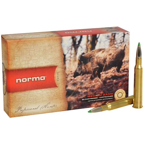 Norma American PH Ecostrike 7x65mm Rimmed Ammo 140 Grain Tipped Boat Tail Lead-Free