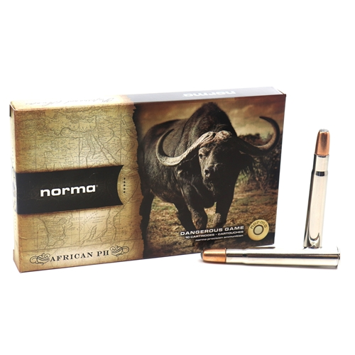 Norma African PH 375 Flanged Magnum Ammo 300 Grain Woodleigh Weldcore Soft Point