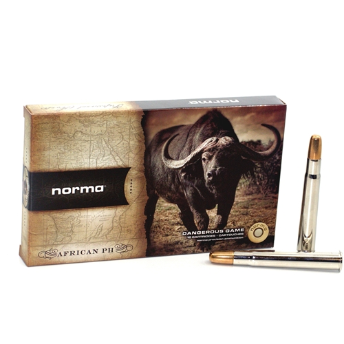 Norma African PH 375 Flanged Magnum Ammo 300 Grain Woodleigh Full Metal Jacket