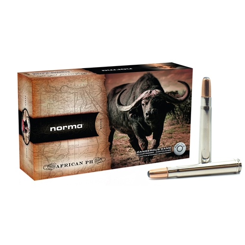 Norma African PH 375 H&H Magnum Ammo 350 Grain Woodleigh Weldcore Soft Nose