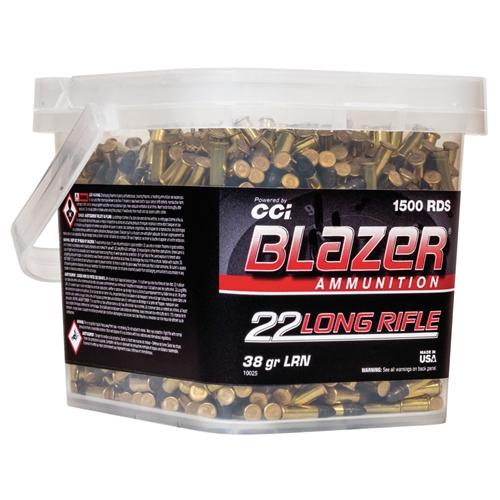CCI Blazer 22 Long Rifle Ammo 38 Grain LRN 1500 Round Bucket