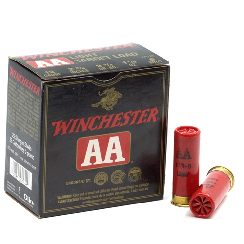 "Winchester Limited Edition AA 12 Gauge 2 3/4""-1 1/8oz. #8 Shot Light Target Load"