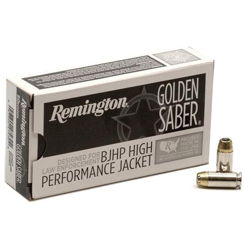 Remington Golden Saber 40 S&W Ammo 165 Grain Brass Jacketed Hollow Point