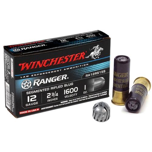 "Winchester Ranger 12 Gauge Ammo 2 3/4"" 1oz Ranger Segmenting Slug"