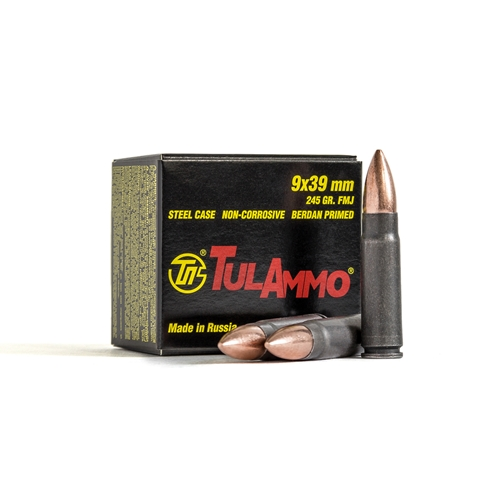 TulAmmo Performance 9x39 Ammo 245 Grain Full Metal Jacket Steel Case