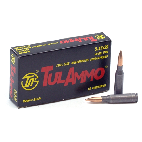 TulaAmmo 5.45x39mm Ammo 60 Grain Full Metal Jacket (Bi-Metal) Steel Case