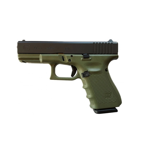 "Glock G19 Gen4 9mm Luger Semi-Auto 15 Rounds 4.01"" Barrel Battlefield Green"