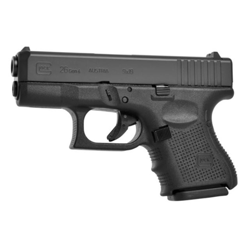 "Glock G26 Gen4 9mm Luger Semi-Auto 10 Rounds 3.42"" Barrel Matte Finish Fixed Sights"
