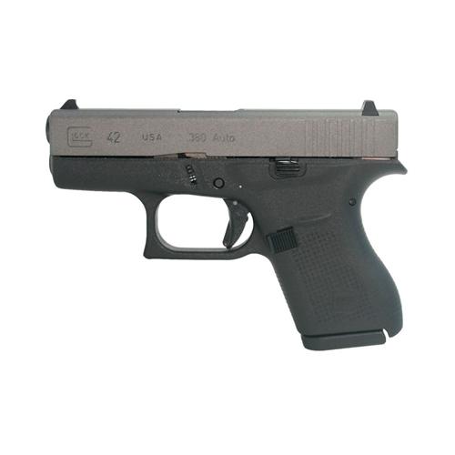 Glock G42 380 ACP Slimline Subcompact Handgun 6+1 Rounds Tungsten Gray Slide