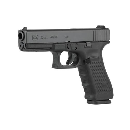 """Glock G22 Gen4 40 S&W 15 Rounds 4.48"""" Barrel Black Interchangeable Backstrap Grip Black Slide"""