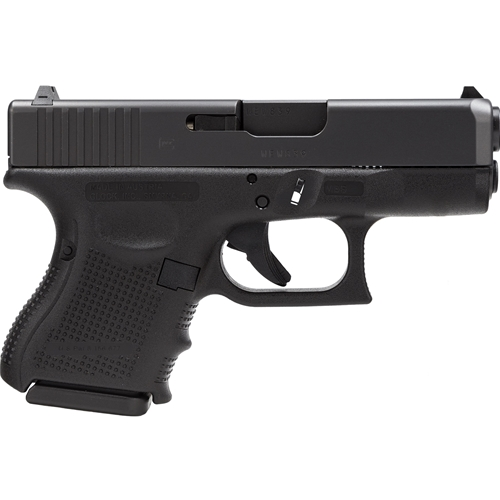 "Glock G27 Gen 4 40 S&W 9 Rounds  3.42"" Black Interchangeable Backstrap Grip Black Slide"