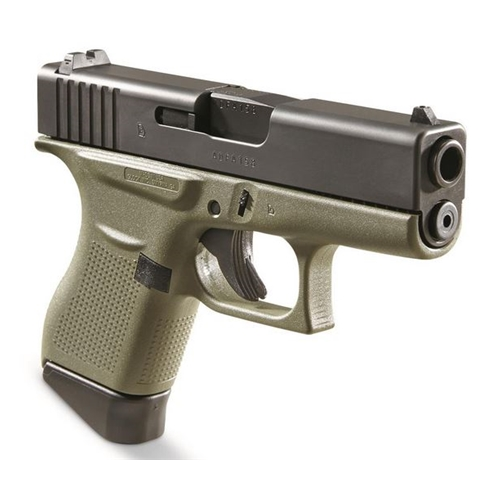 "Glock 43 9mm Luger Semi-Auto 6 Rounds 3.39"" Battlefield Green Frame"