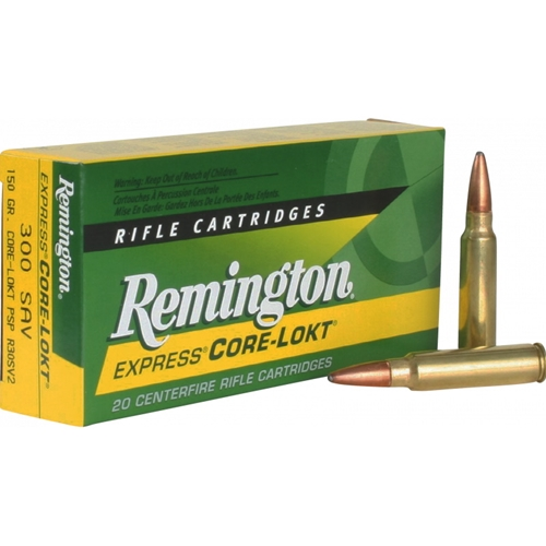 Remington Express 300 Savage Ammo 150 Grain Core-Lokt Soft Point