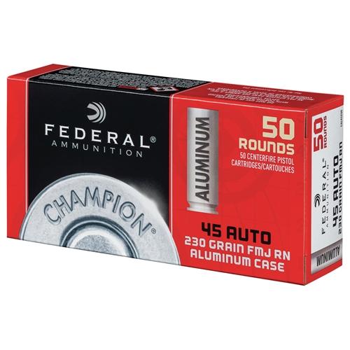 Federal Champion Aluminum 45 ACP AUTO Ammo 230 Grain Full Metal Jacket