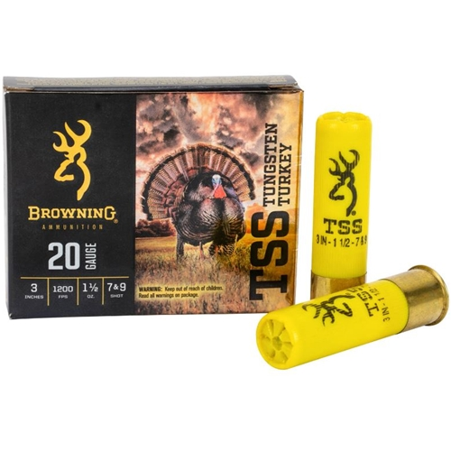"Browning TSS Tungsten 20 Gauge Ammo 3"" 1-1/2oz. #7&9"