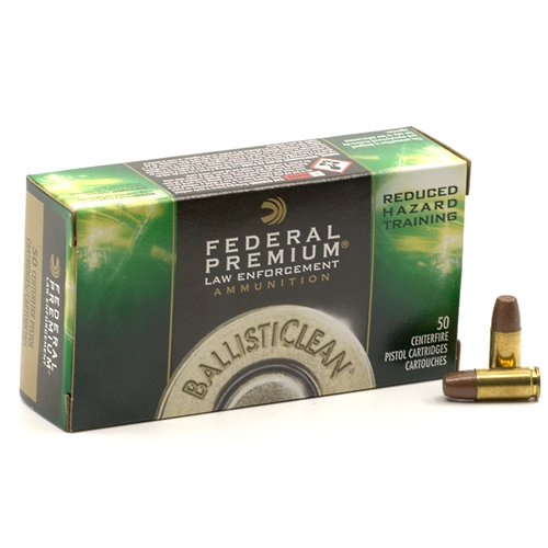 Federal FBI BallistiClean 9mm Luger Ammo 98 Grain Frangible Reduced Hazard Training
