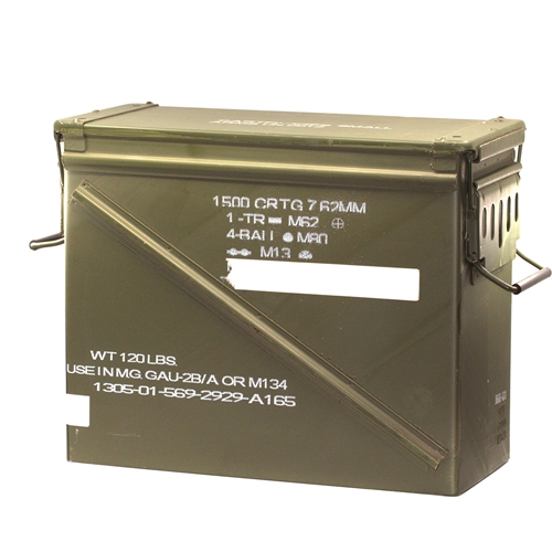 Federal Lake City  7.62x51 Caliber M548 Metal Large Ammo Can