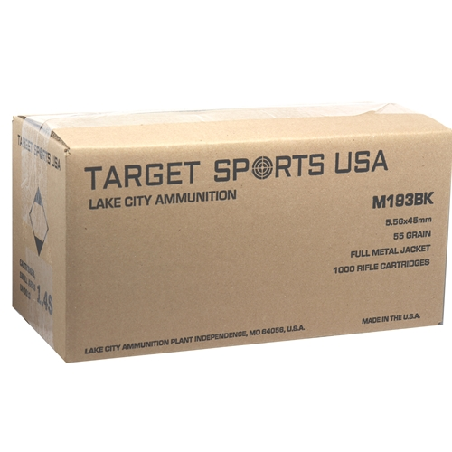 Target Sports USA Lake City 5.56mm NATO Ammo 55 Grain FMJ 1000 Rds Bulk
