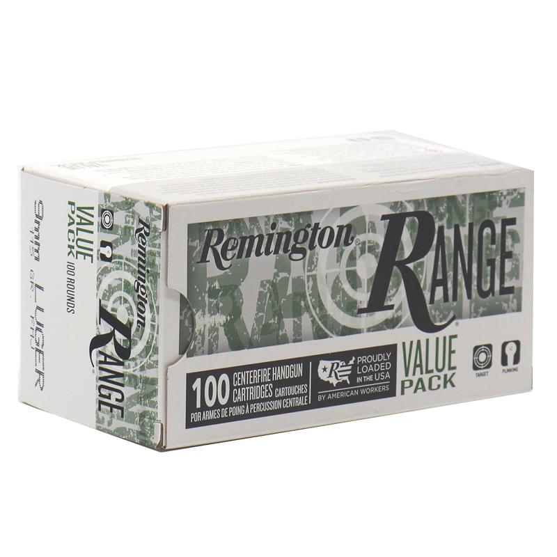 Remington Range 9mm Luger Ammo 115 Grain Full Metal Jacket 100 Rounds Per Box