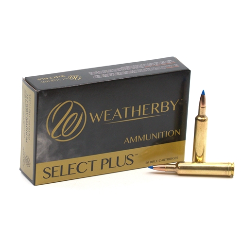 Weatherby Select Plus 257 Weatherby Magnum Ammo 115 Grain Nosler Ballistic Tip