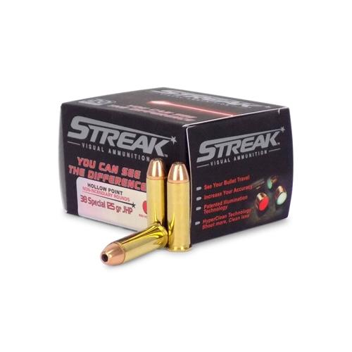 Ammo Inc Streak 38 Special Ammo 125 Grain JHP Tracer
