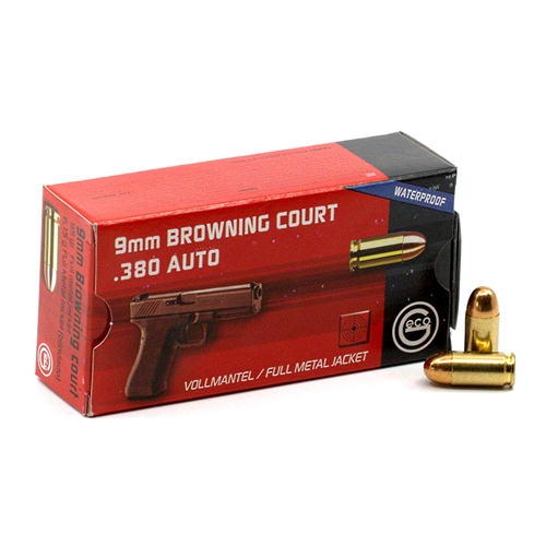 Geco 380 ACP Auto Ammo 95 Grain Full Metal Jacket Waterproof