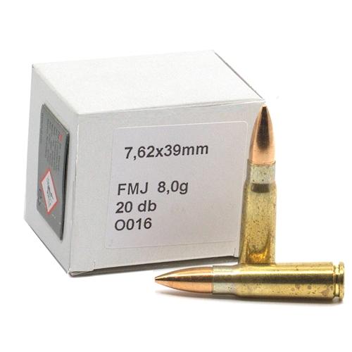 Geco 7.62x39mm Ammo 124 Grain FMJ Blem