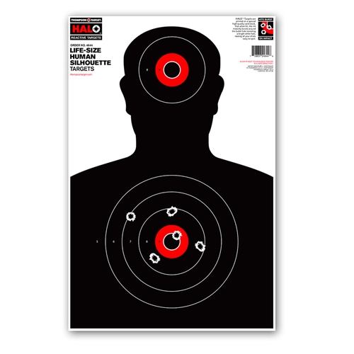 """Thompson Target HALO Life-Size Silhouette Reactive Shooting Targets - 12.5""""x19"""""""