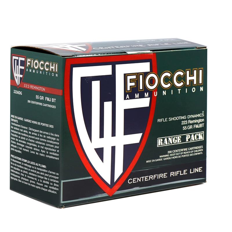 Fiocchi Range Pack 223 Remington Ammo 55 Grain FMJ 250 Rounds