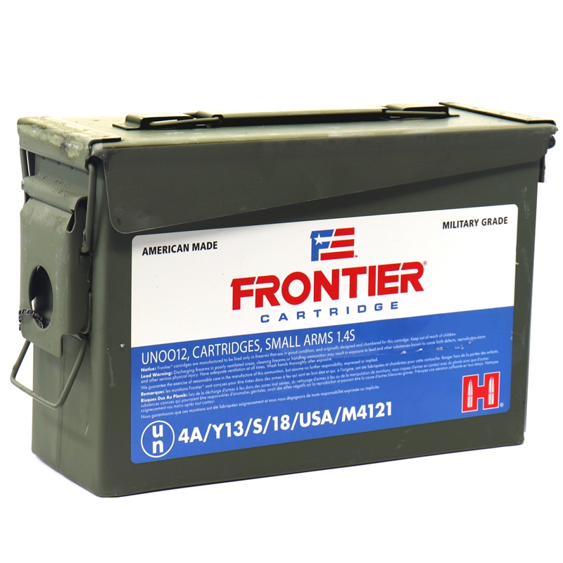 Hornady Frontier 5.56x45mm NATO Ammo 62 Grain FMJBT 500 Rounds Ammo Can
