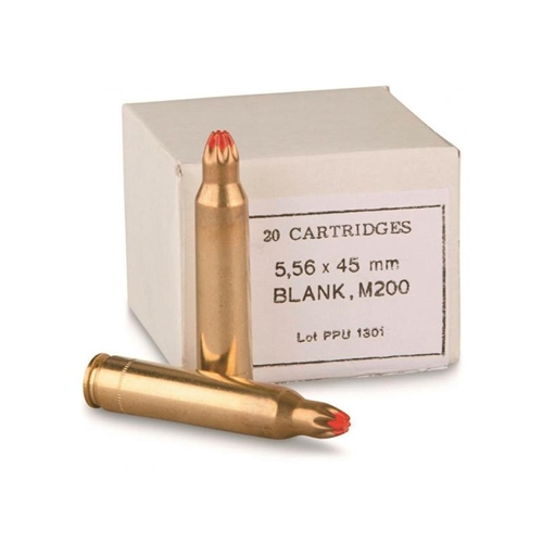PPU Blank 223 Remington/5.56mm Nato Ammo Brass Cased