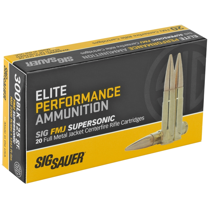 Sig Sauer Elite Performance 300 AAC Blackout 125 Grain FMJ Supersonic