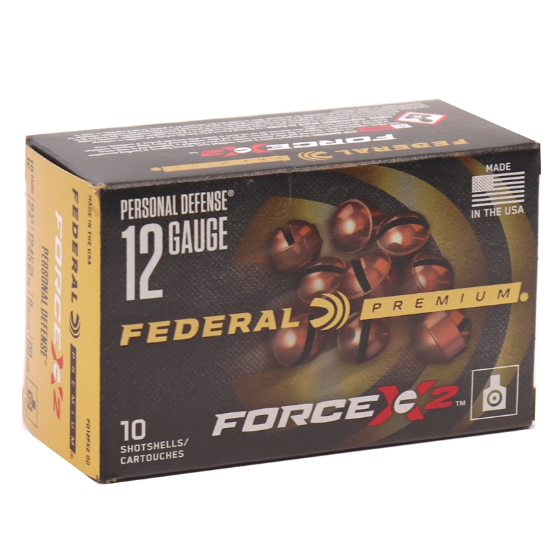 "Federal Personal Defense 12 Gauge Ammo 2-3/4"" 00 Buckshot FORCE X2 9 Pellets"