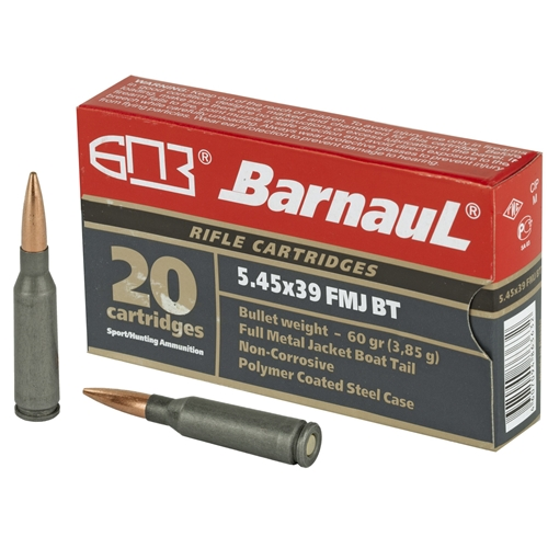 Barnaul 5.45x39mm Ammo 60 Grain Full Metal Jacket Steel Case