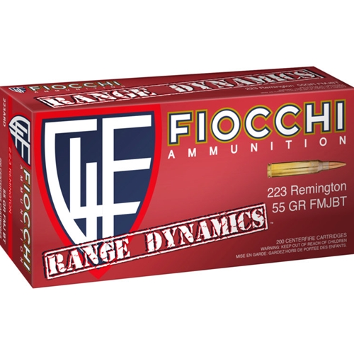 Fiocchi Range Pack 223 Remington Ammo 55 Grain FMJ 1000 Rounds Bulk