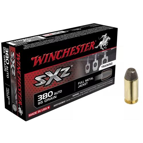 Winchester SXZ 380 ACP Auto Ammo 95 Grain Full Metal Jacket Training System