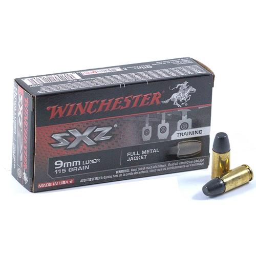 Winchester SXZ 9mm Luger Ammo 115 Grain Full Metal Jacket Training System