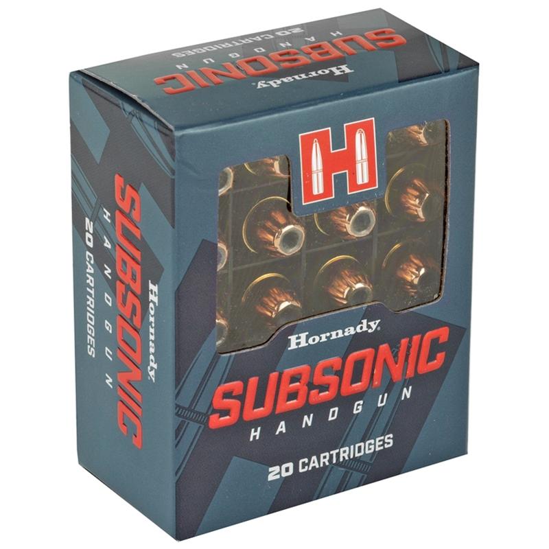 Hornady Subsonic 40 S&W Ammo 180 Grain XTP