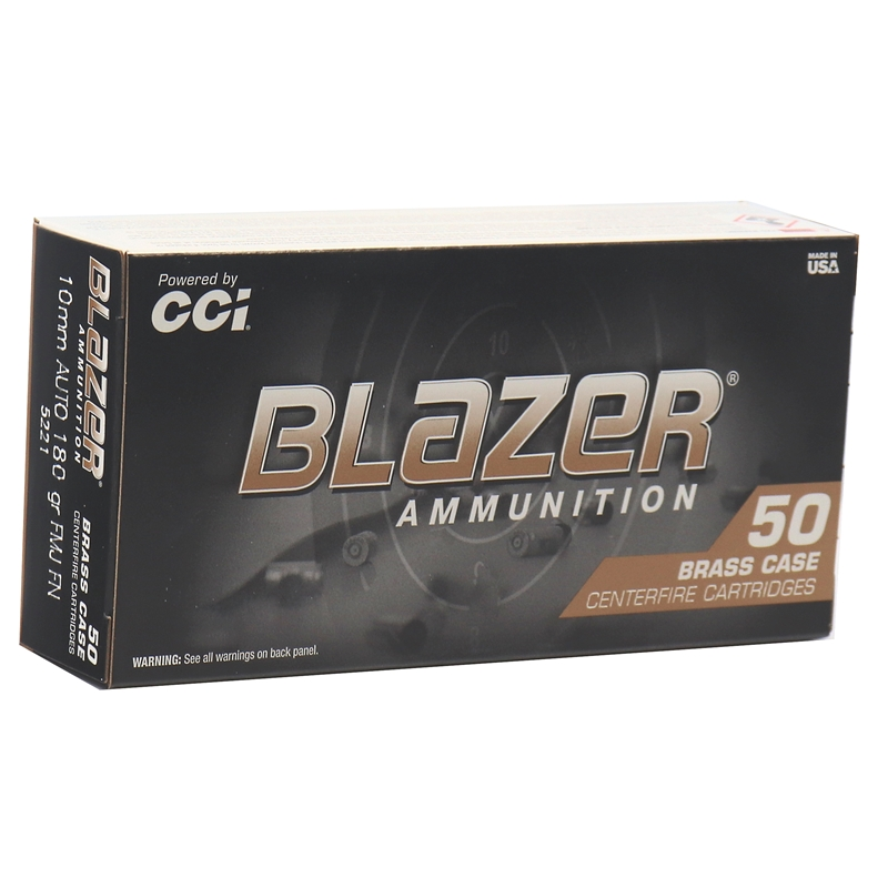 CCI Blazer Brass 10mm AUTO Ammo 180 Grain Full Metal Jacket