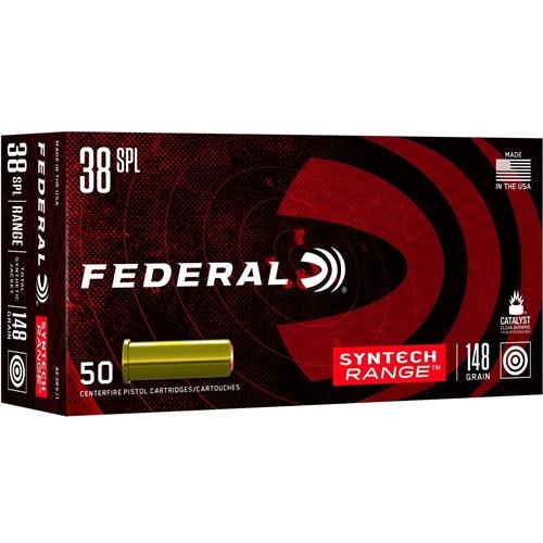 Federal Syntech Range 38 Special Ammo 148 Grain TJS Wadcutter