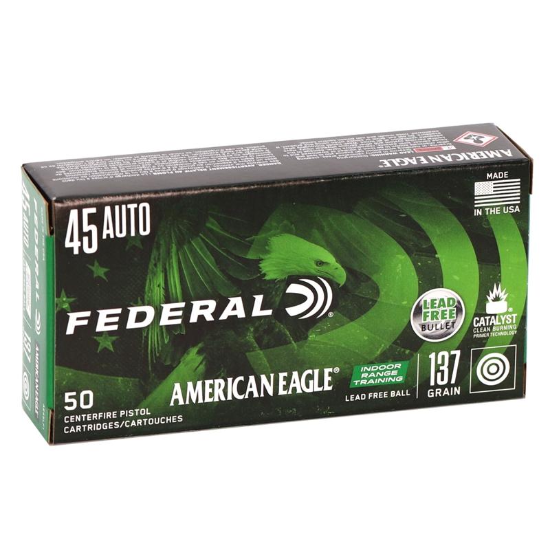 Federal American Eagle IRT 45 ACP Auto Ammo 140 Grain FMJ Lead Free