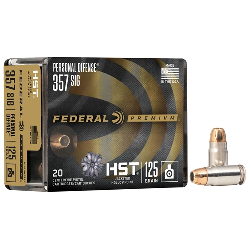 Federal HST 357 SIG Ammo 125 Grain Jacketed Hollow Point