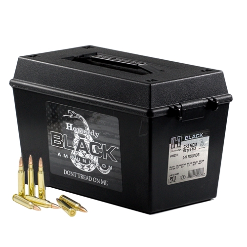 Hornady Black 223 Remington Ammo 62 Grain Full Metal Jacket Can of 247 Rounds