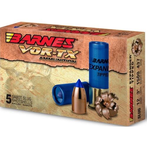 """Barnes Vor-Tx 12 Gauge 2-3/4"""" Ammo Expender Tipped Slug"""