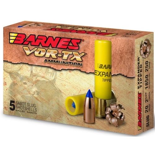 """Barnes Vor-Tx 20 Gauge 2-3/4"""" Ammo Expender Tipped Slug"""