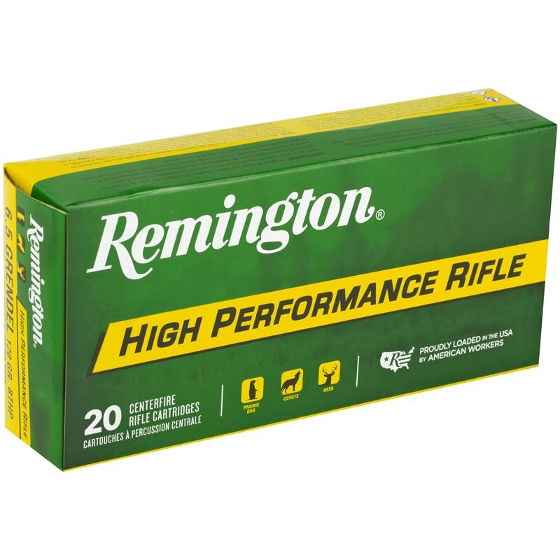 Remington High Performance Rifle 6.5 Grendel Ammo 120 Grain HPBT